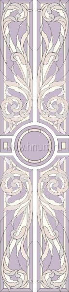 Витражный потолок тиффани, изготовленный на заказ в витражной мастерской БМ ХНУМ - Итальянская вилла - Эскиз №45