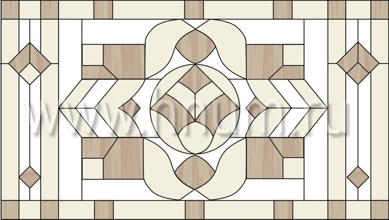 Витражный потолок тиффани, изготовленный на заказ в витражной мастерской БМ ХНУМ - Объемные фигуры - Эскиз №46
