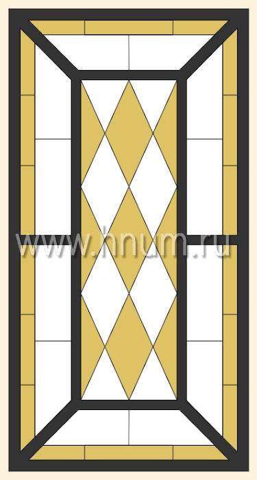 Витражный потолок тиффани, изготовленный на заказ в витражной мастерской БМ ХНУМ - Шахматные ромбы - Эскиз №58