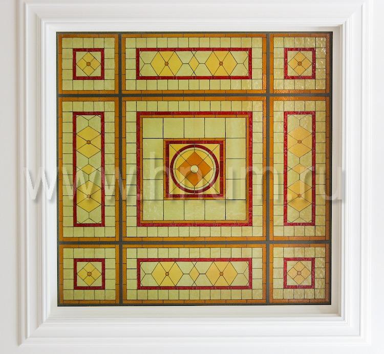 Витражный потолок тиффани «Геометрическое изящество» (эскиз №51)