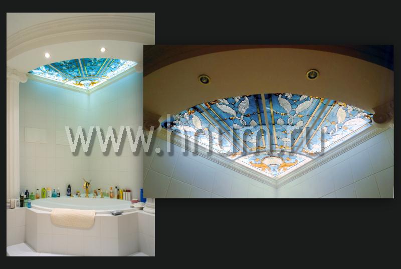 Витражные потолки в магазине - изготовление витражных потолков на заказ