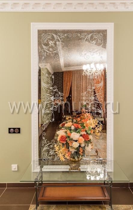 Зеркала с рисунком в интерьере фото